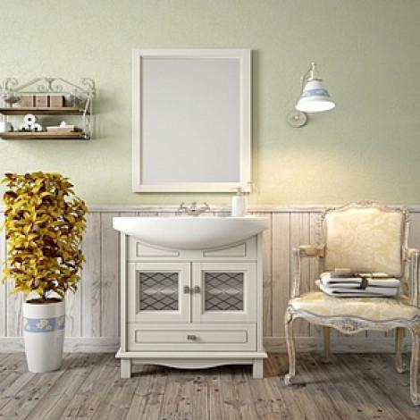 Комплект мебели Opadiris Омега 75 cлоновая кость купить в Москве по цене от 28560р. в интернет-магазине mebel-v-vannu.ru