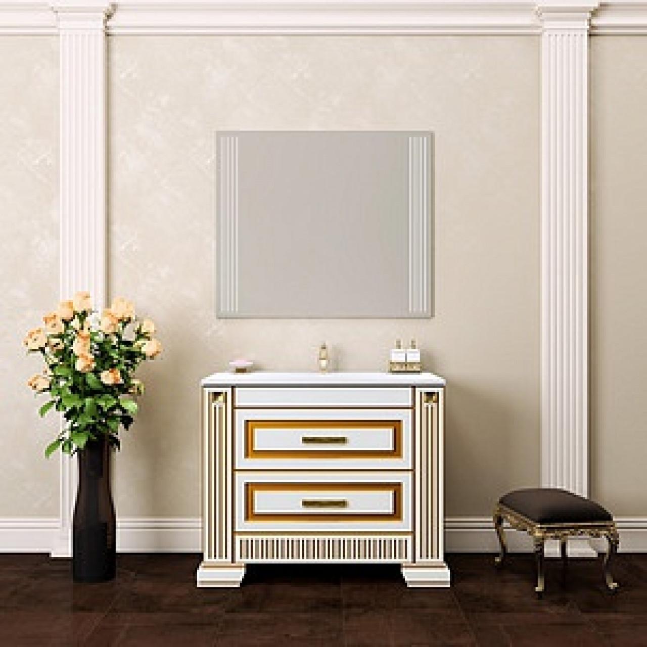 Комплект мебели Opadiris Оникс 100 золотая патина купить в Москве по цене от 56014р. в интернет-магазине mebel-v-vannu.ru