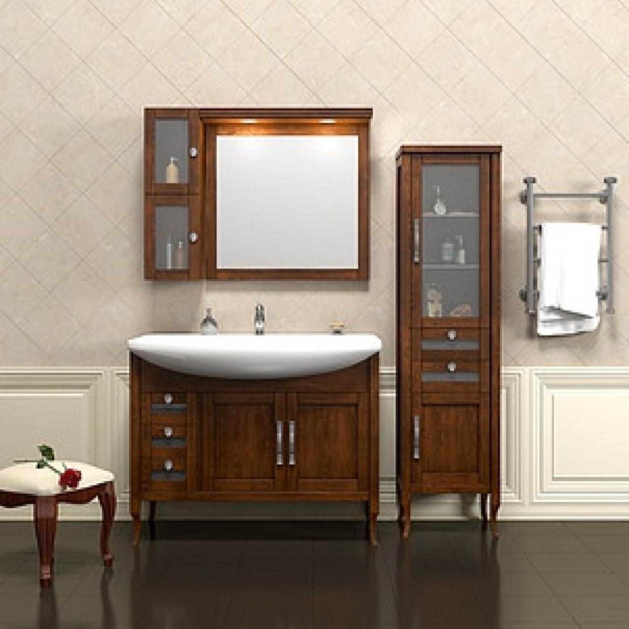 Комплект мебели Opadiris Мираж 100 светлый орех купить в Москве по цене от 54292р. в интернет-магазине mebel-v-vannu.ru