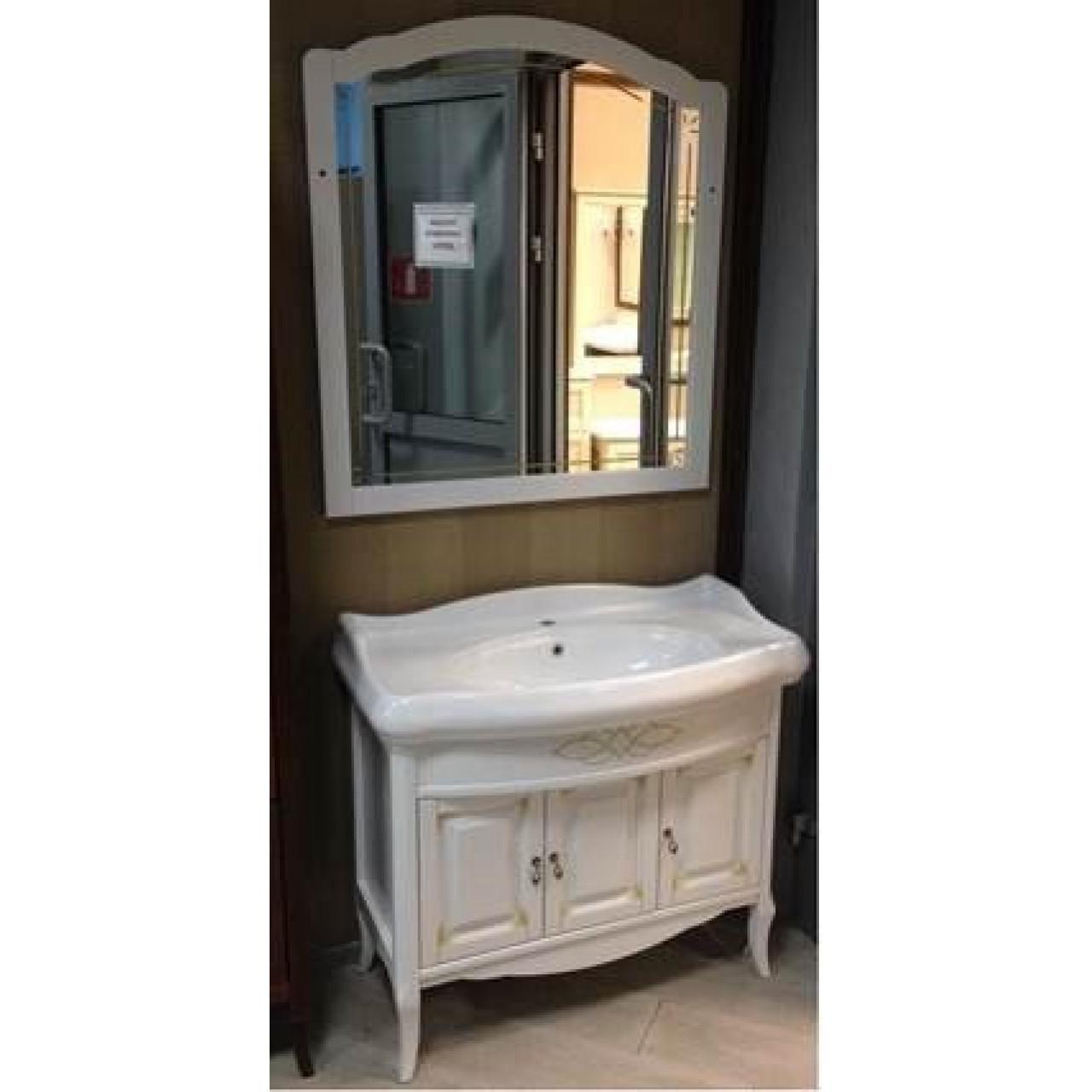Комплект мебели Opadiris Лоренцо 100 белый купить в Москве по цене от 60564р. в интернет-магазине mebel-v-vannu.ru
