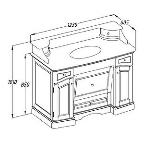 Комплект мебели Opadiris Лучия 120 орех купить в Москве по цене от 128772р. в интернет-магазине mebel-v-vannu.ru