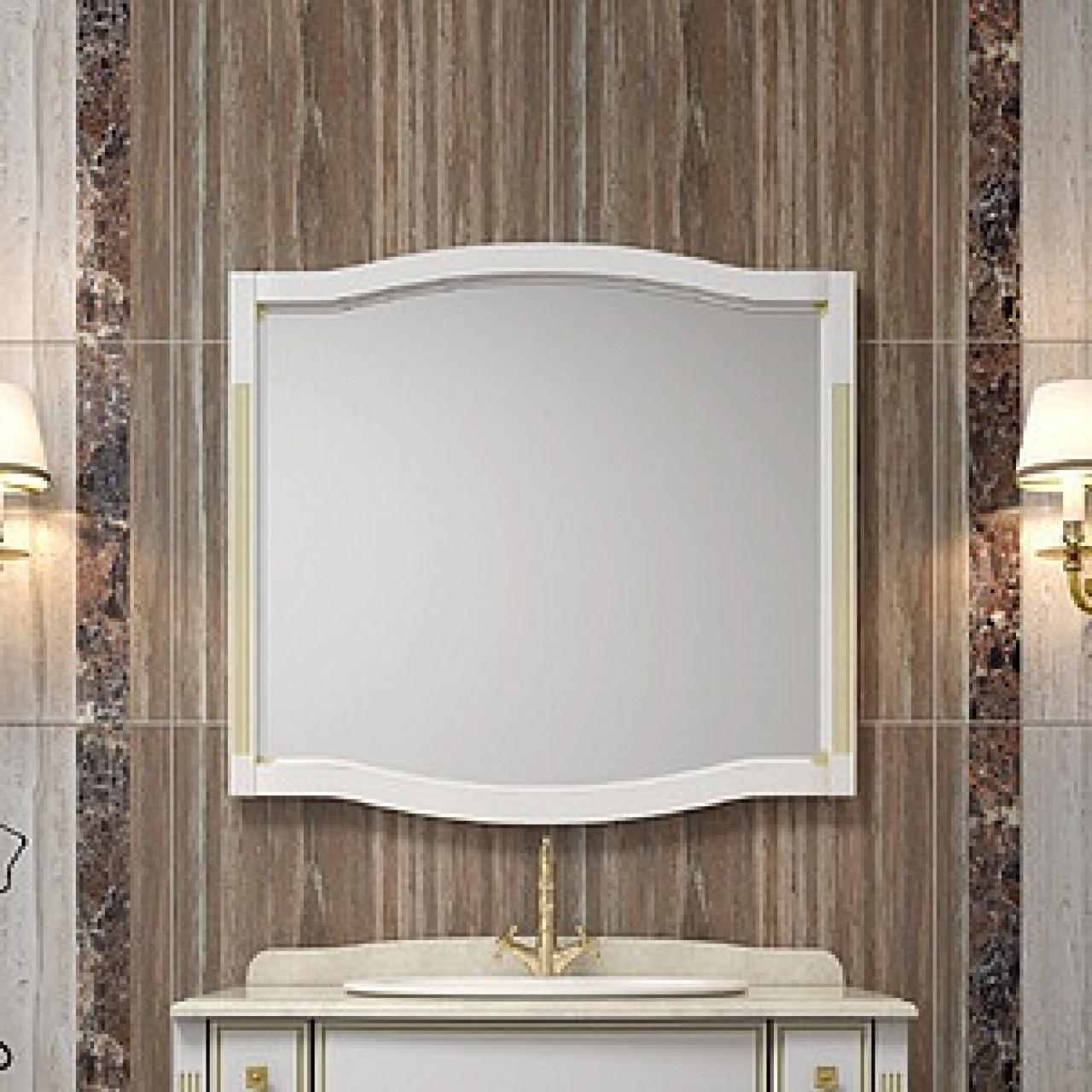 Зеркало Opadiris Лаура 100 белое с патиной купить в Москве по цене от 10500р. в интернет-магазине mebel-v-vannu.ru