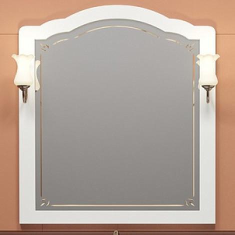 Зеркало Opadiris Лоренцо 100 белое купить в Москве по цене от 12174р. в интернет-магазине mebel-v-vannu.ru