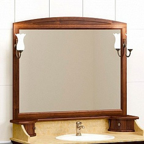 Зеркало Opadiris Лучия 120 орех со светильниками купить в Москве по цене от 13924р. в интернет-магазине mebel-v-vannu.ru