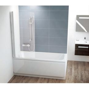 Шторка для ванны Ravak Chrome CVS1-80 L белый+ транспарент 7QL40100Z1