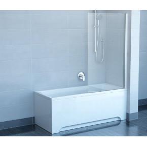 Шторка для ванны Ravak Chrome CVS1-80 R белый+ транспарент 7QR40100Z1