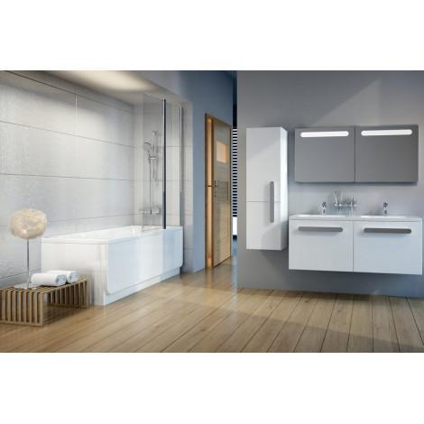 Шторка для ванны Ravak Chrome CVS2-100 L блестящий+транспарент 7QLA0C00Z1 купить в Москве по цене от 25238р. в интернет-магазине mebel-v-vannu.ru