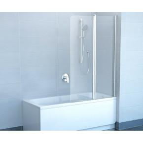 Шторка для ванны Ravak Chrome CVS2-100 R белый+ транспарент 7QRA0100Z1