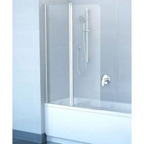 Шторка для ванны Ravak Chrome CVS2-100 L белый+ транспарент 7QLA0100Z1