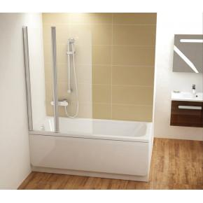 Шторка для ванны Ravak Chrome CVS2-100 L сатин+транспарент 7QLA0U00Z1