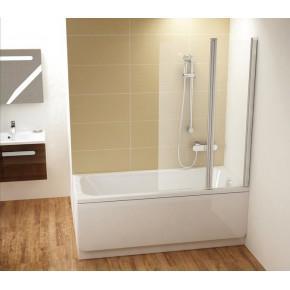 Шторка для ванны Ravak Chrome CVS2-100 R сатин+ транспарент 7QRA0U00Z1