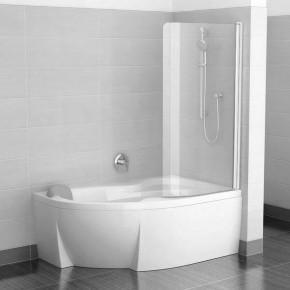 Шторка для ванны Ravak Chrome CVSK1 ROSA 160/170 R блестящий+транспарент 7QRS0C00Y1