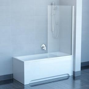 Шторка для ванны Ravak Pivot PVS1-80 белая+транспарент 79840100Z1