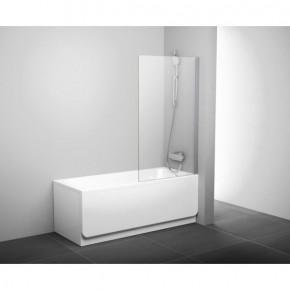 Шторка для ванны Ravak Pivot PVS1-80 блестящая+транспарент 79840C00Z1