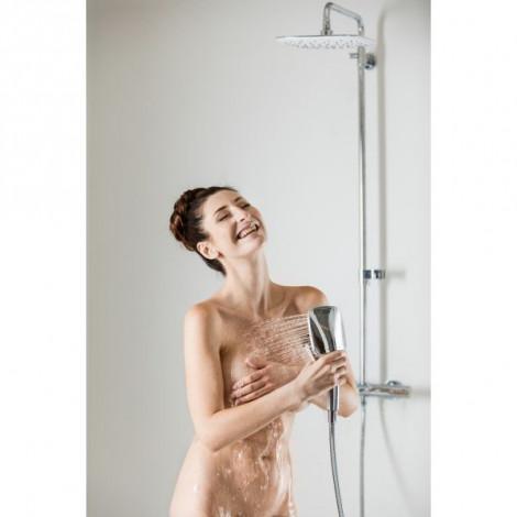 Душевая стойка для ванны Ravak Termo 300 TE 092.00/150 X070098 с термостатическим смесителем и ручным душем купить в Москве по цене от 41847р. в интернет-магазине mebel-v-vannu.ru