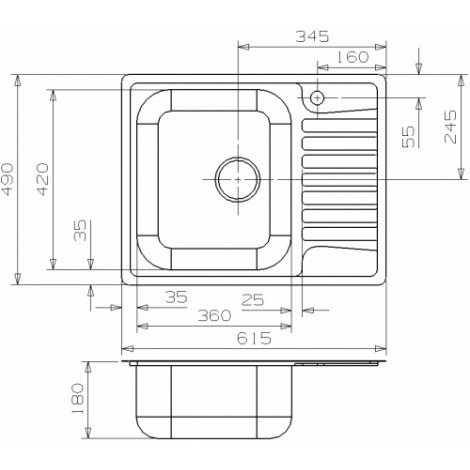 Кухонная мойка Reginox Admiral 40 LUX 615x490 OKG купить в Москве по цене от 15240р. в интернет-магазине mebel-v-vannu.ru