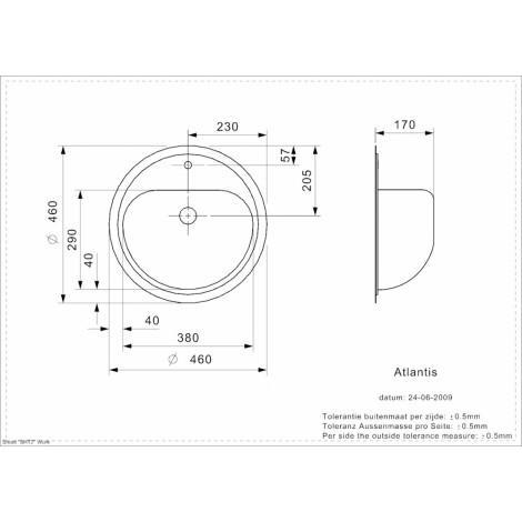 Раковина Reginox Atlantis L LUX OSP 11680 купить в Москве по цене от 11680р. в интернет-магазине mebel-v-vannu.ru