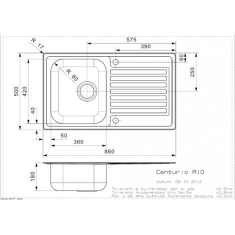Кухонная мойка Reginox Centurio 10 L LUX OKG 43211 купить в Москве по цене от 16950р. в интернет-магазине mebel-v-vannu.ru
