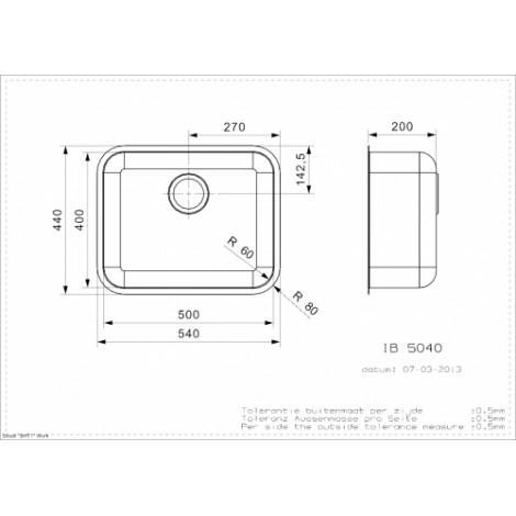 Кухонная мойка Reginox IB 50x40 U LUX 41992 купить в Москве по цене от 14700р. в интернет-магазине mebel-v-vannu.ru