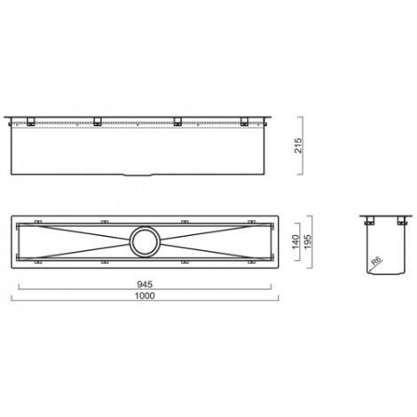 Кухонный блок Reginox Manhattan 100 L 945x140 OKG 43195 купить в Москве по цене от 46350р. в интернет-магазине mebel-v-vannu.ru