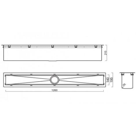 Кухонный блок Reginox Manhattan 130 L 1260x195 OKG 43196 купить в Москве по цене от 55790р. в интернет-магазине mebel-v-vannu.ru