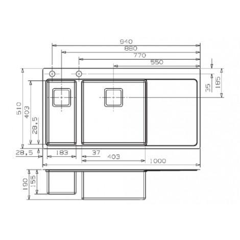 Кухонная мойка Reginox Nevada 18x40 LUX OKG Left/Right 43101/43102 купить в Москве по цене от 86150р. в интернет-магазине mebel-v-vannu.ru