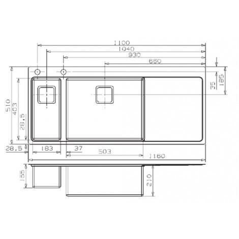 Кухонная мойка Reginox Nevada 18x50 LUX OKG Left/Right 43103/43104 купить в Москве по цене от 96070р. в интернет-магазине mebel-v-vannu.ru