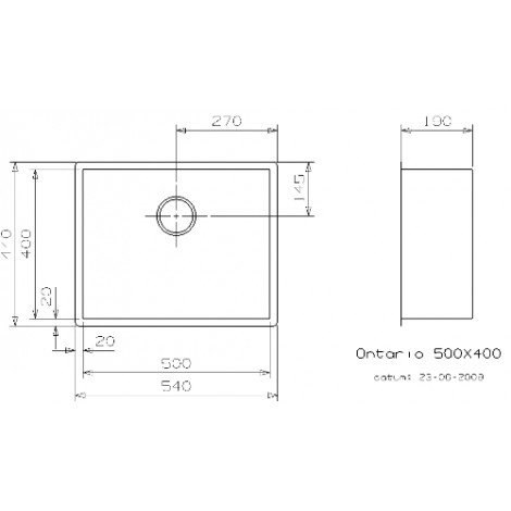 Кухонная мойка Reginox Ontario 540x440 Medium OKG 3594 купить в Москве по цене от 33200р. в интернет-магазине mebel-v-vannu.ru