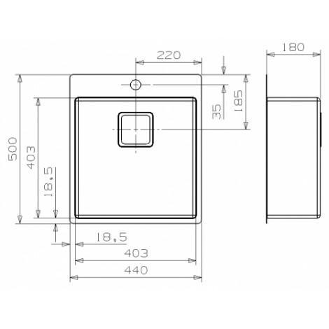 Кухонная мойка Reginox Texas 40x40 Tapwing 42676 купить в Москве по цене от 38100р. в интернет-магазине mebel-v-vannu.ru