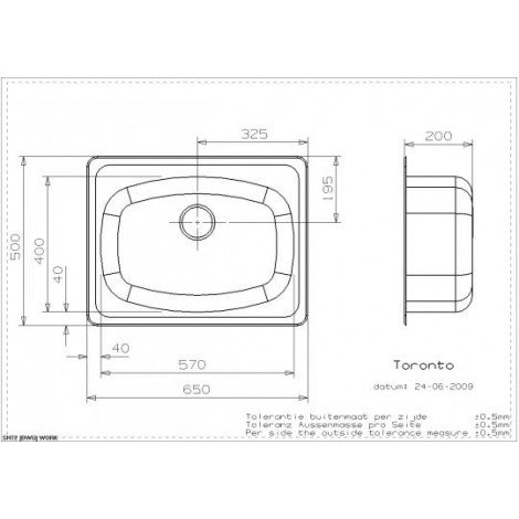 Кухонная мойка Reginox Toronto R LUX 650x500 OKG купить в Москве по цене от 13530р. в интернет-магазине mebel-v-vannu.ru
