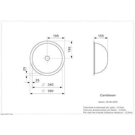 Раковина Reginox Caribbean 390x390 купить в Москве по цене от 12000р. в интернет-магазине mebel-v-vannu.ru