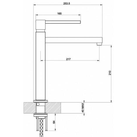 Смеситель для кухни Reginox Gila k762k Брашированная сталь 42421 купить в Москве по цене от 49400р. в интернет-магазине mebel-v-vannu.ru