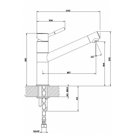 Смеситель для кухни Reginox Xinga K770K Хром 41788 купить в Москве по цене от 20700р. в интернет-магазине mebel-v-vannu.ru