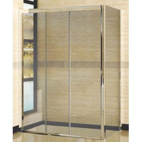Душевой уголок RGW Classic CL-40 (1260-1310)х700 профиль хром, стекло шиншилла 04094037-51