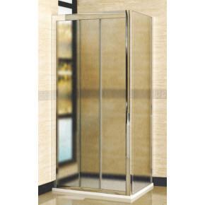 Душевой уголок RGW Classic CL-40 (960-1010)х700 профиль хром, стекло шиншилла 04094007-51