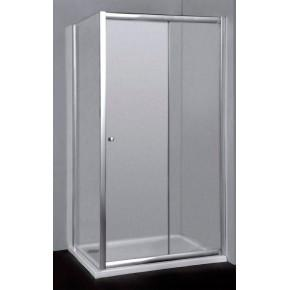 Душевой уголок RGW Classic CL-45 (960-1010)x700x1850 профиль хром, стекло шиншилла 04094507-51