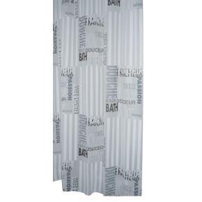 Штора для ванной комнаты Ridder Font полупрозрачный 180x200 303120 Aqm