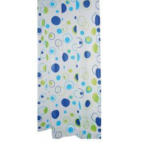 Штора для ванной комнаты Ridder Kreise синий/голубой 180x200 303080 Aqm