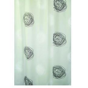 Штора для ванной комнаты Ridder Pamuk бежевый/коричневый 180x200 303160 Aqm