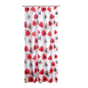 Штора для ванной комнаты Ridder Poppy красный 180x200 303210