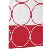 Штора для ванной комнаты Ridder Circle красный 180x200 46386 купить в Москве по цене от 2722р. в интернет-магазине mebel-v-vannu.ru