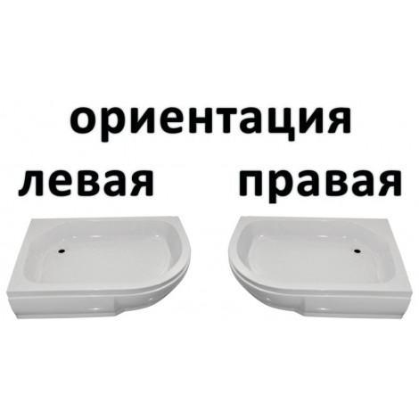 Поддон полукруглый низкий River акриловый 110/80/26 L, R купить в Москве по цене от 5100р. в интернет-магазине mebel-v-vannu.ru