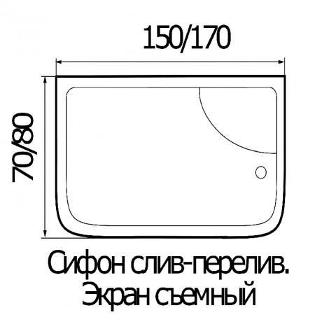 Душевая кабина River NARA 150/80/50 МТ купить в Москве по цене от 35800р. в интернет-магазине mebel-v-vannu.ru