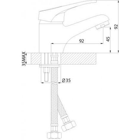 Смеситель Rossinka B35-11 для раковины купить в Москве по цене от 1770р. в интернет-магазине mebel-v-vannu.ru