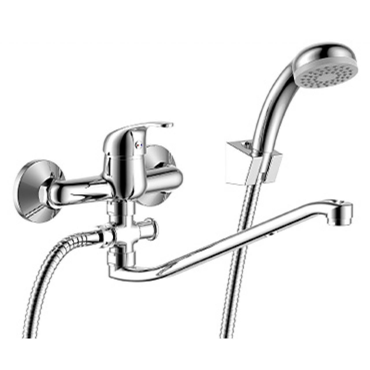 Смеситель Rossinka Y35-35 для ванны с душем купить в Москве по цене от 2988р. в интернет-магазине mebel-v-vannu.ru