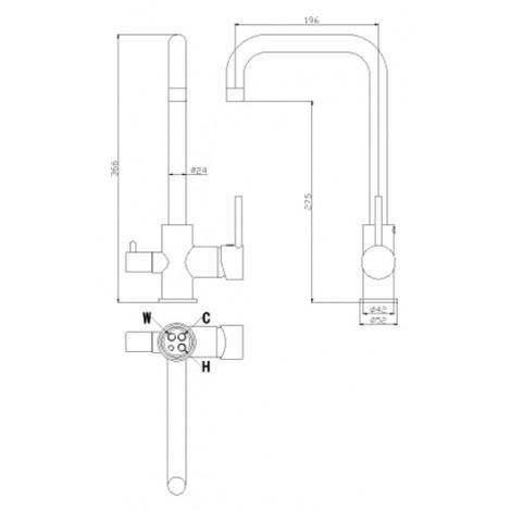 Смеситель Rossinka Z35-29 для кухонной мойки