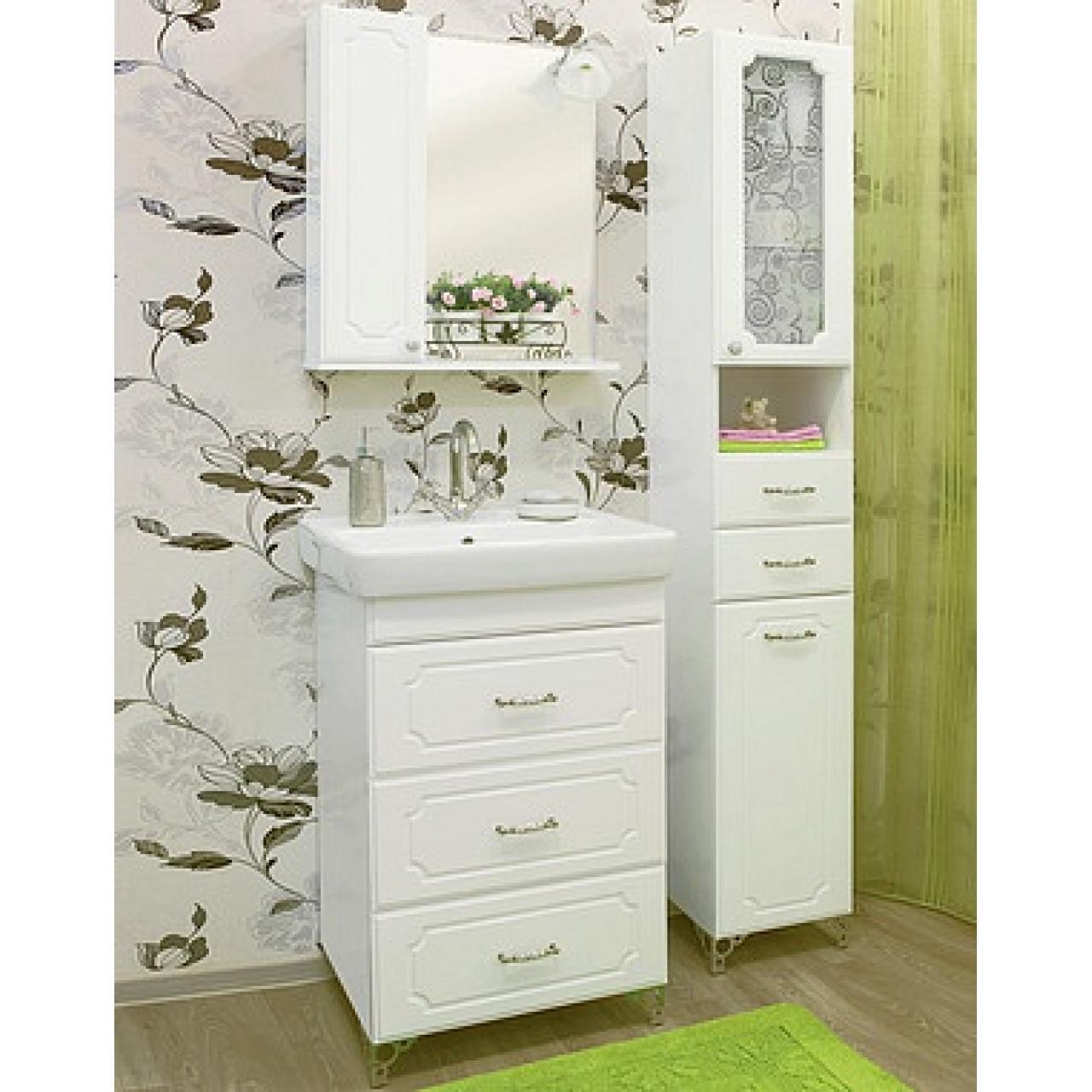 Комплект мебели Sanflor Ксения 60 напольный купить в Москве по цене от 15784р. в интернет-магазине mebel-v-vannu.ru