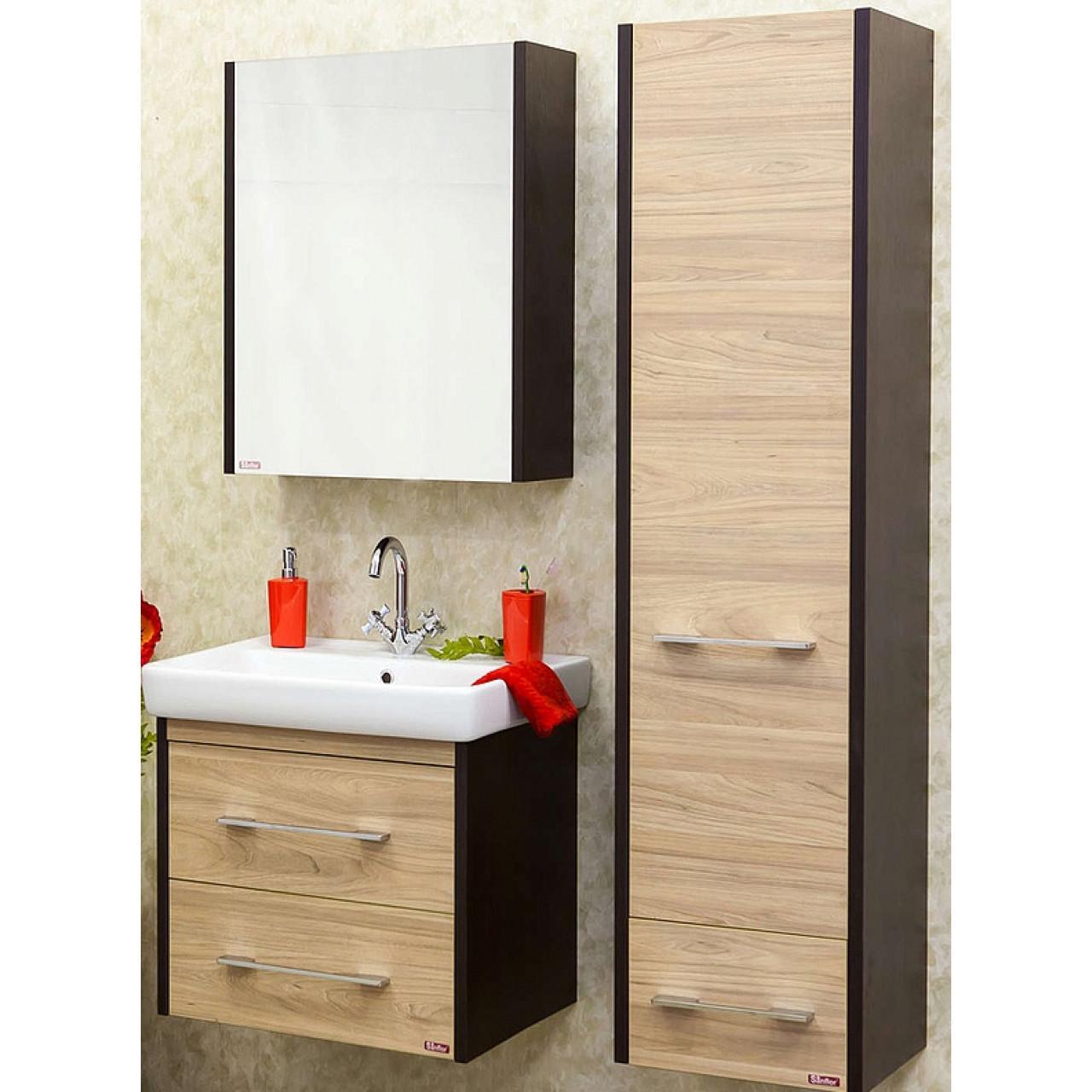 Комплект мебели Sanflor Ларго 60 подвесной купить в Москве по цене от 14980р. в интернет-магазине mebel-v-vannu.ru