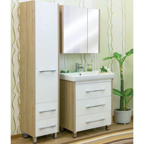 Комплект мебели Sanflor Ларго 80 белый купить в Москве по цене от 19820р. в интернет-магазине mebel-v-vannu.ru