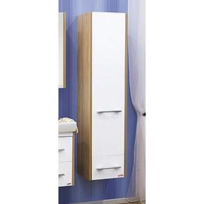 Пенал для ванной Sanflor Ларго белый подвесной